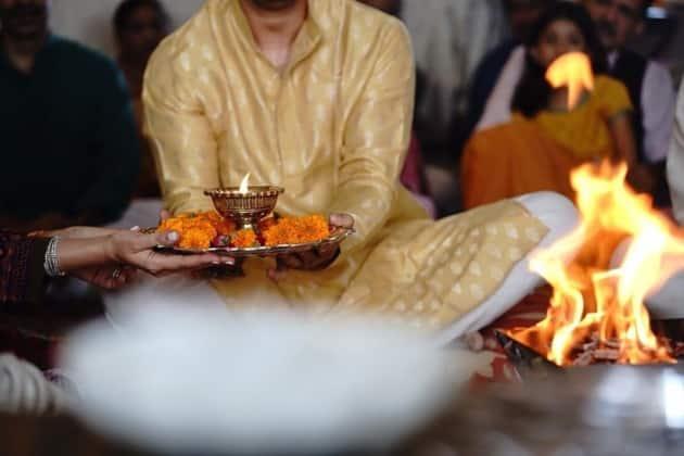 Gautam Kitchlu wedding photos with kajal aggarwal