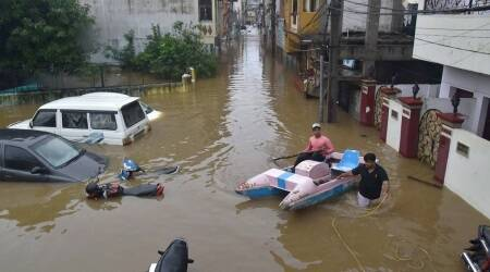 hyderabad, hyderabad rains, hyderabad floods, hyderabad news, hyderabad, maharashtra rains, indian express
