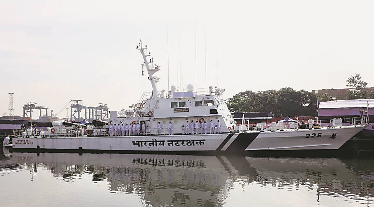 Indian Coast Guard commissions new fast patrol vessel built by GRSE