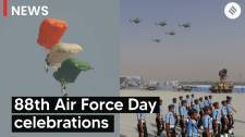 Indian Air Force shows strength on 88th Air Force Day at Hindon Airbase