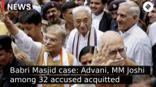 LK Advani, MM Joshi among 32 accused acquitted in Babri Masjid Demolition Case