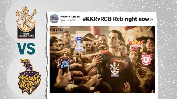 KKR vs RCB, KKR vs RCB match memes, KKR vs RCB IPL match, KKR vs RCB, Royal Challengers Bangalore beat Kolkata Knight Riders, Dream IPL 2020, IPL 2020 memes, Sports News, Trending news, Indian Express news.