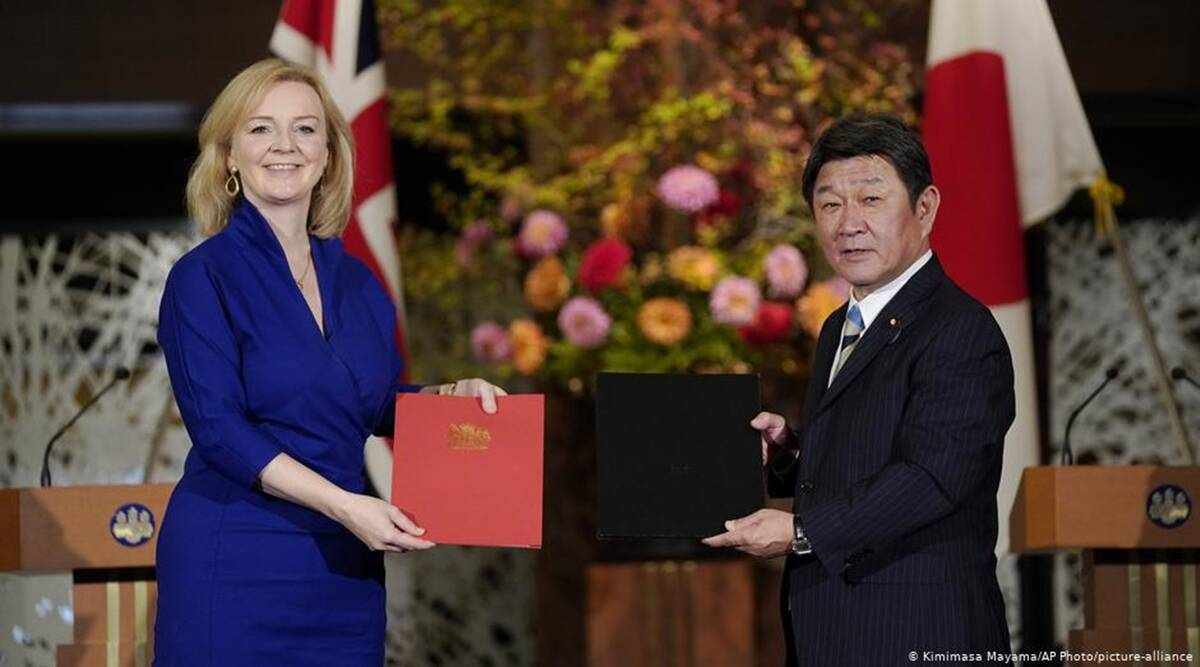 Toshimitsu Motegi, Liz Truss, Brexit trade deal, Japan Britain trade deal