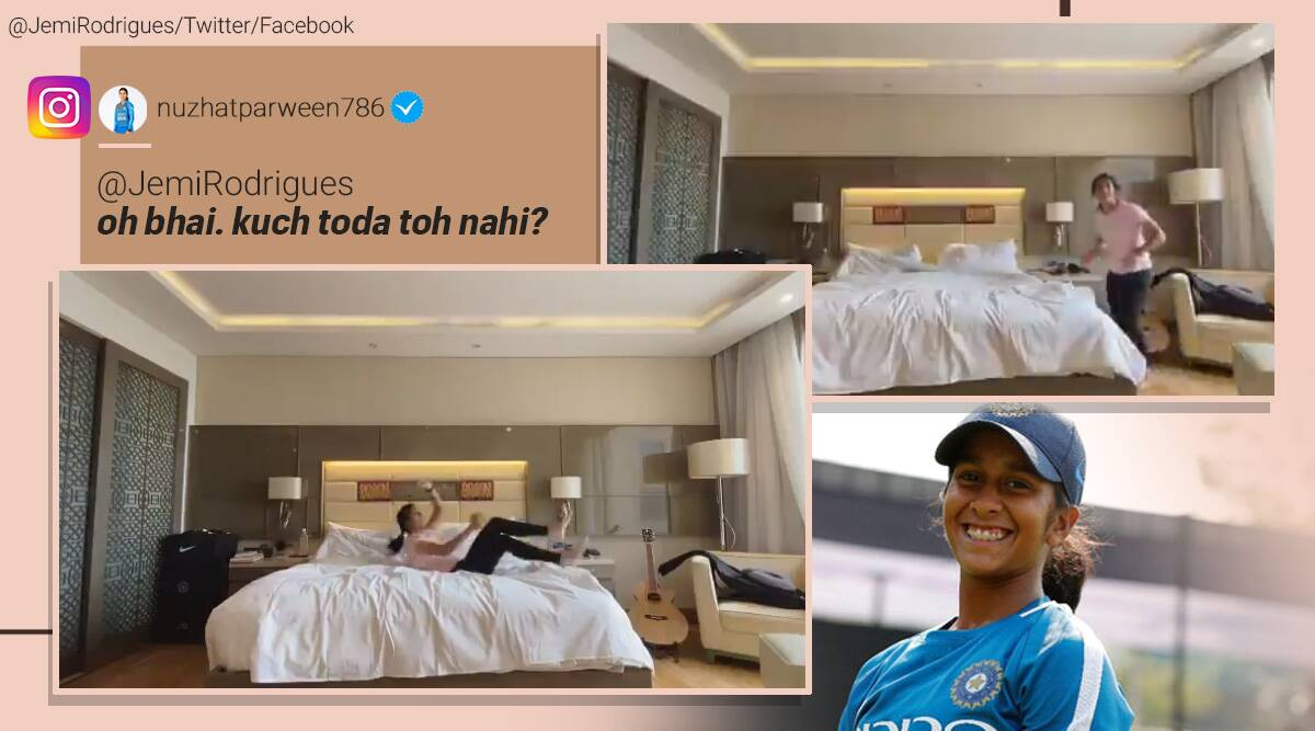 Jemimah Rodrigues, Jemimah Rodrigues funny video, Women's T20 Challenge, Women's T20 Challenge indian players, viral videos, sports news, indian express
