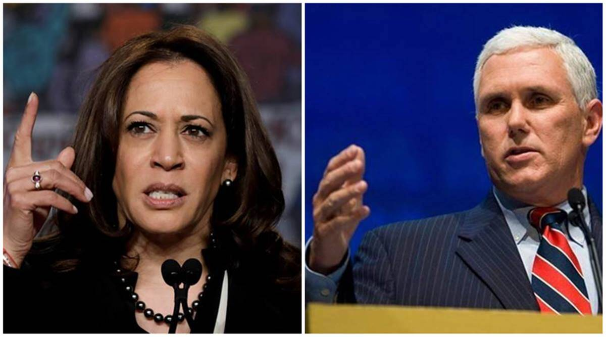 Harris-Pence debate tomorrow, Mike Pence, Kamala Harris, US presidential elections 2020, Donald Trump, Joe Biden, world news, Indian express