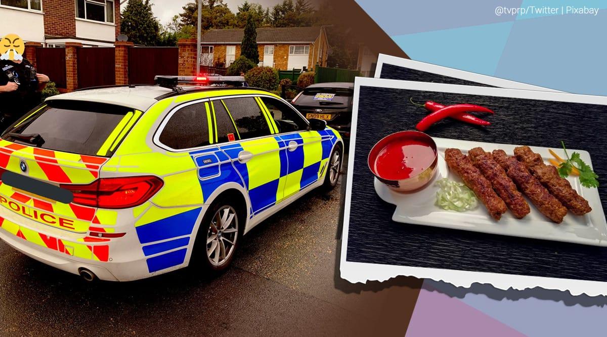 police delivers kebab, cops deliver food arresting delivery guy, kebab delivery by police after arresting driver, odd news, funny news, indian express