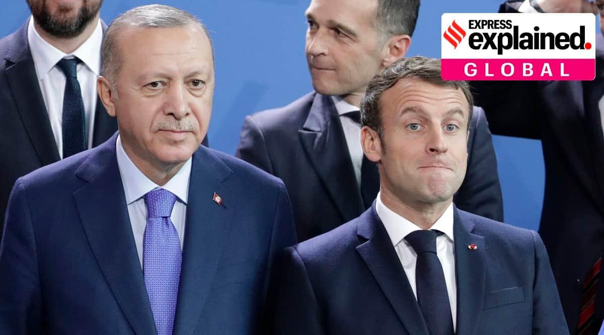 Charlie hebdo cartoon on Erdogan, Turkey France relations, Macron Charlie Hebdo, Macron Islam comments, Erdogan on France, Indian Express