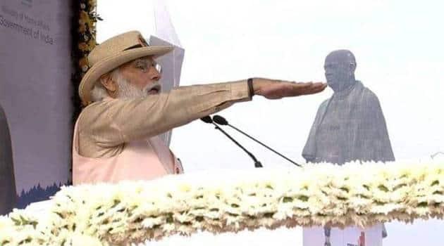 Narendra Modi, Sardar Patel, Statue of Unity, PM Modi pays tributes to Sardar Patel, Modi in Gujarat, ekta diwas parade, PM Modi photos, Indian express