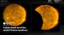 NASA shares video of moon 'photobombing' their view of of the sun