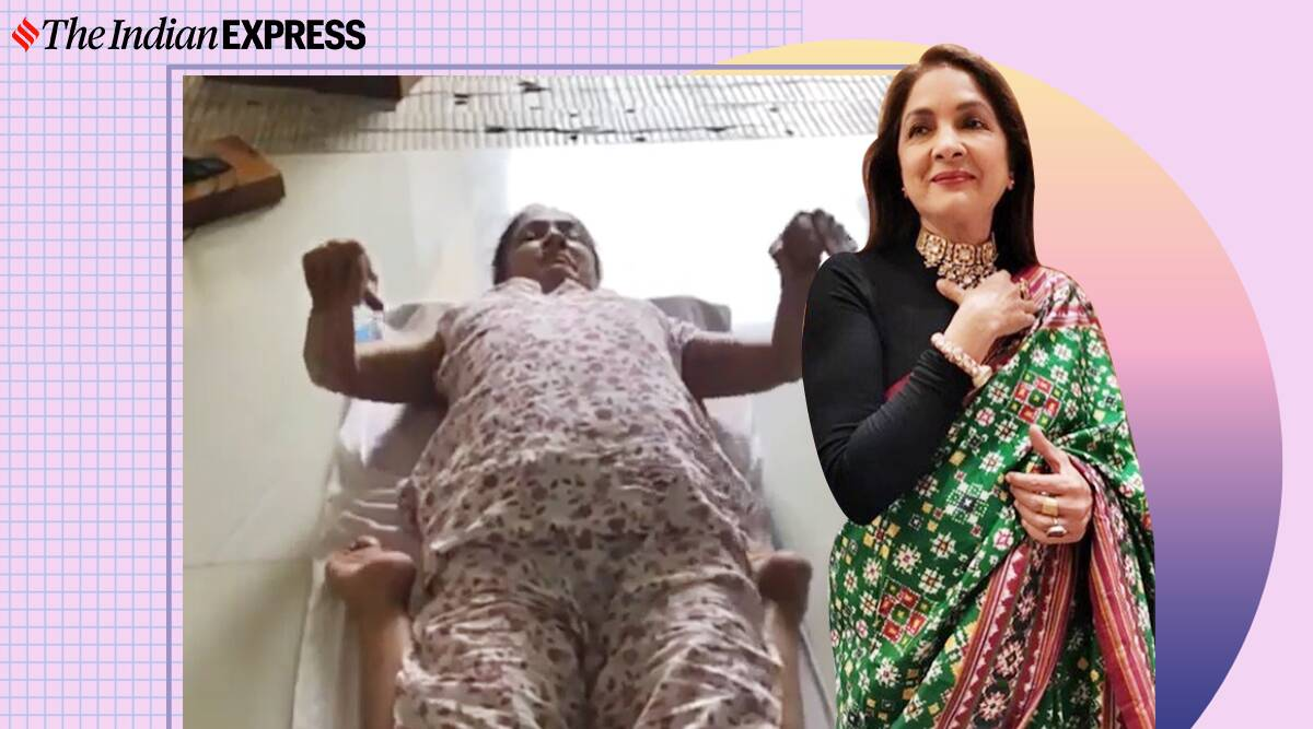 supt vajrasana, neena gupta, fitness goals, neena gupta fitness videos, yoga, neena gupta yoga, indianexpress.com, indianexpress,