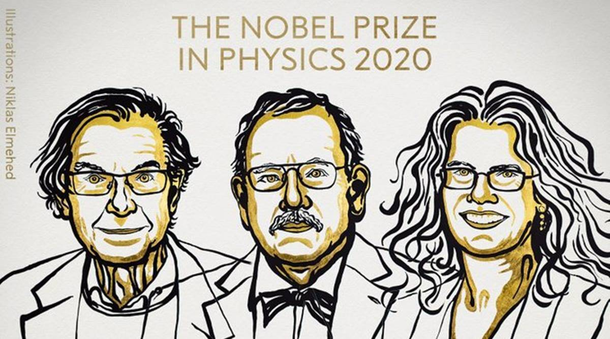 Nobel Prize for Physics awarded to British, German and American astrophysicists for discoveries on black hole