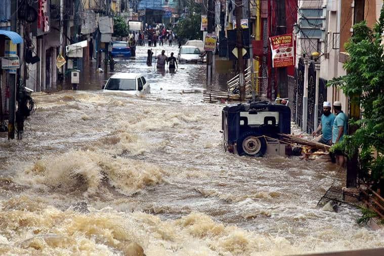 Hyderabad, Hyderabad floods, Hyderabad lakes, Hyderabad waterways, Why did Hyderabad flood, Indian Express