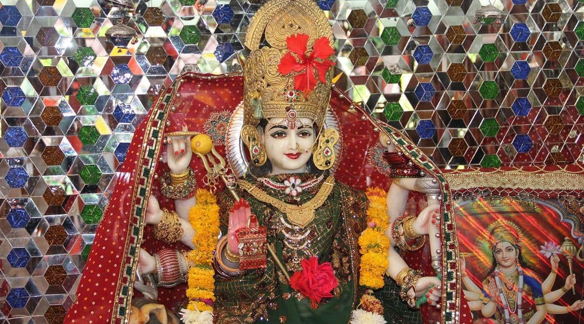 navratri 1st day puja, shailputri puja, indian express news