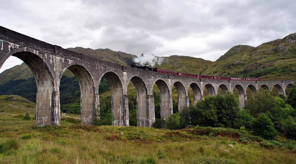 Scottish Highlands, Harry Potter, train in Scotland, Hogwarts Express, Harry Potter train in Scotland, indian express news