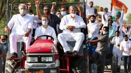 Rahul Gandhi, Rahul Gandhi famers rally, Rahul Gandhi farm bills protest, Rahul Gandhi CAA, Haryana news, India news, Indian express