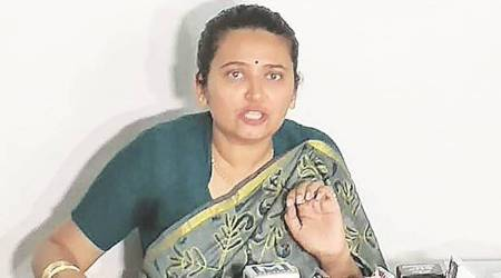 Gujarat bypolls, NCP accuses BJP of dual policy, Gujarat Election Commission, Reshma Patel, Ahmedabad news, Gujarat news, Indian express news