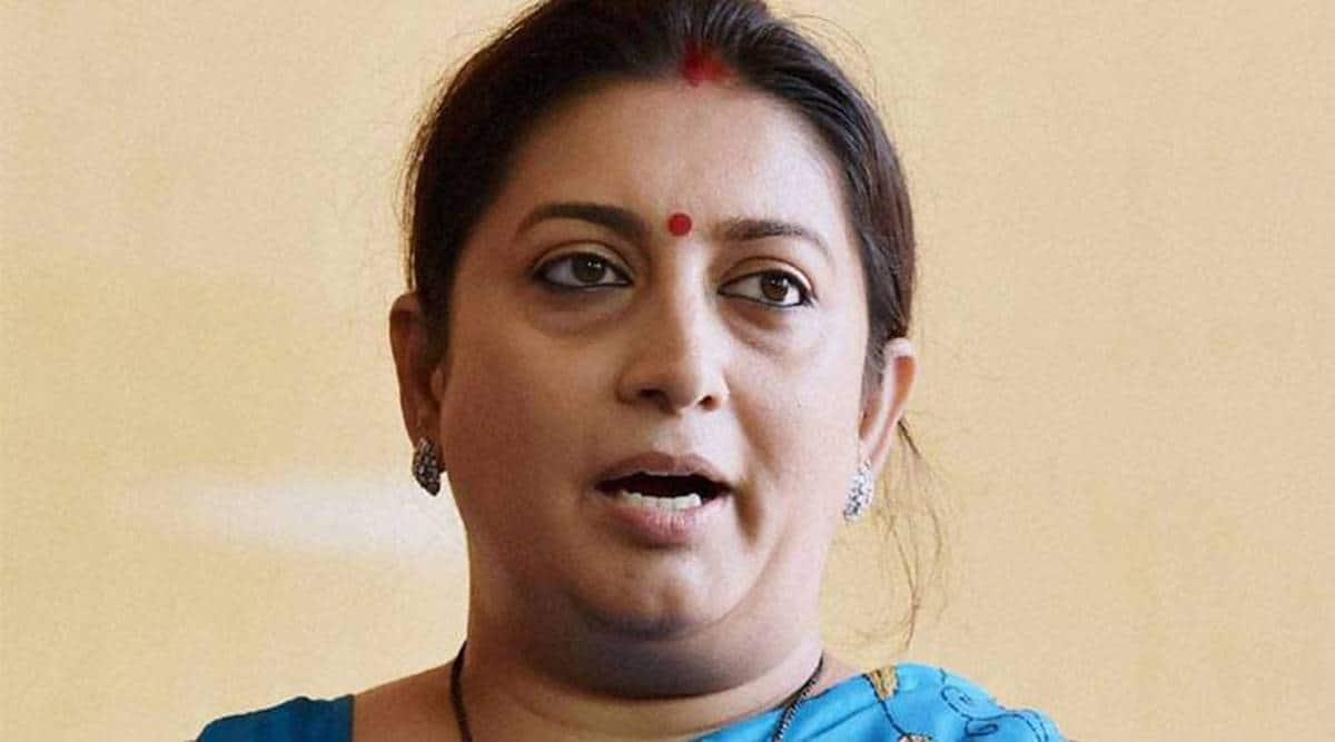 Smriti Irani, Gujarat bypolls, abrogation of Article 370, Gujarat election campaign, Ahmedabad news, Indian express news