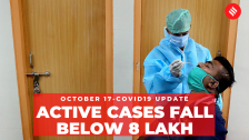 Coronavirus Update Oct 17: India's total Covid-19 active cases fall below 8 lakh