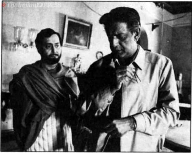 soumitra chatterjee and satyajit ray