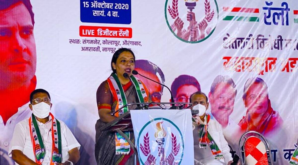 maharashtra congress, maharashtra Women and Child Development Minister jail, Yashomati Thakur sentenced three months jail, Yashomati Thakur policeman assault case, indian express news