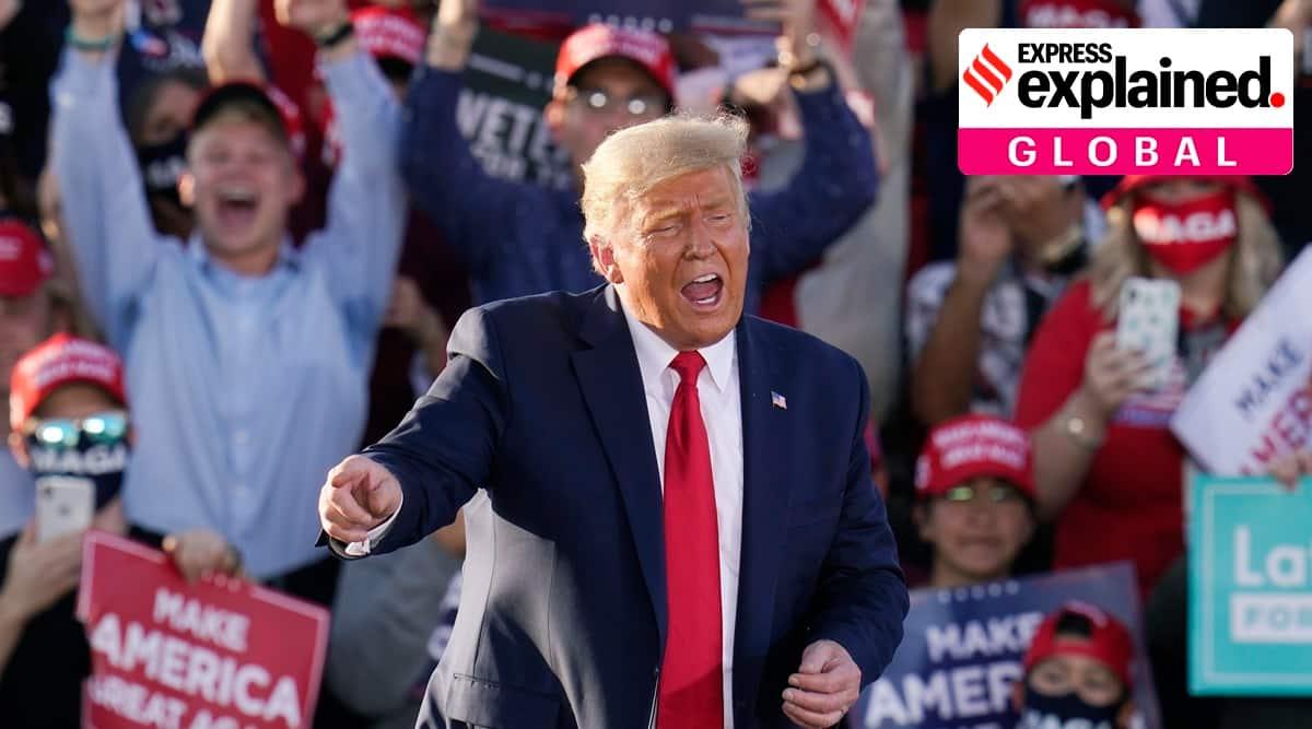 Donald Trump, Trump dancing, Trump YMCA, Trump campaign YMCA song, Village People sue Trump, Indian Express