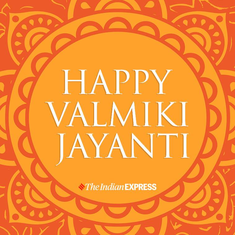 valmiki jayanti, valmiki jayanti 2020, valmiki jayanti 2020 wishes, indian express news