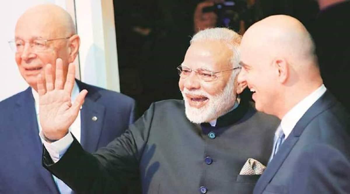 Narendra Modi, Klaus Schwab, WEF founder