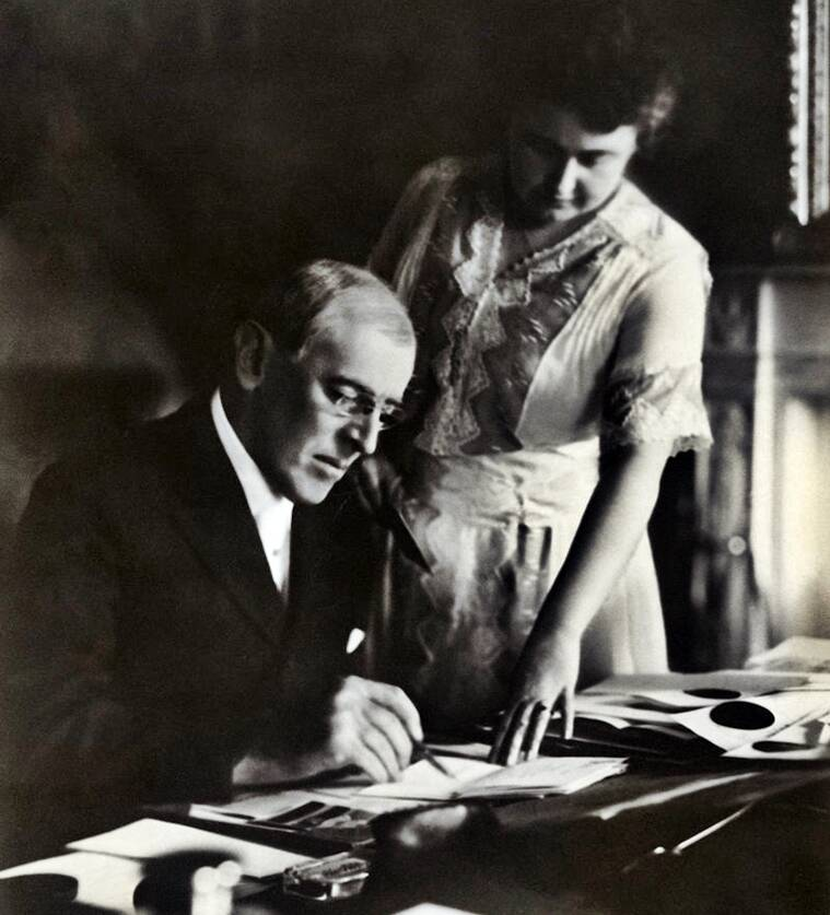President Woodrow Wilson with Edith