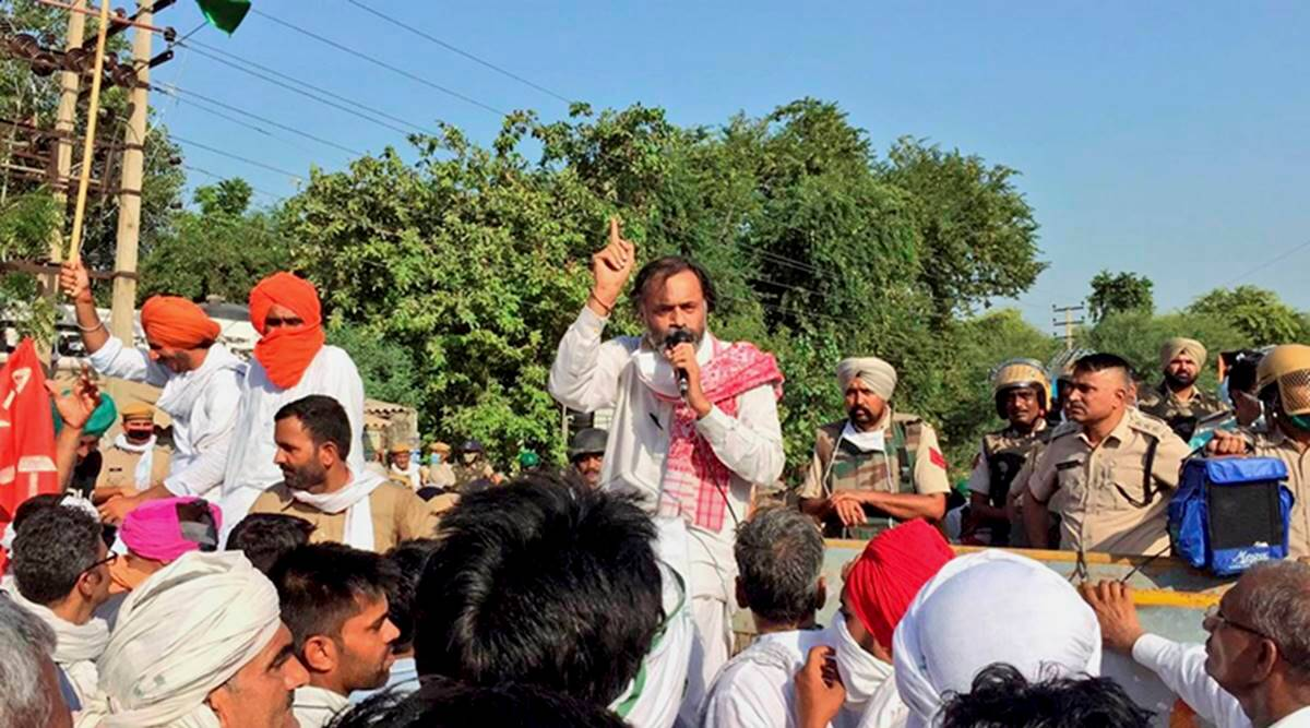 Yogendra Yadav interview, Yogendra Yadav protests, Haryana Farmers protests, Farm Bill protests, Dushyant Chautala, Yogendra Yadav Farmers protests, Indian express