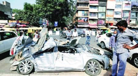 delhi accident, Lajpat Nagar accident, south delhi accident, Lajpat Nagar truck accident, Lajpat Nagar men killed in accident, delhi city news