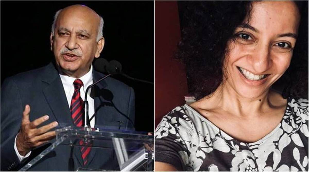 MJ Akbar, MJ Akbar metoo case, priya ramani, indian express
