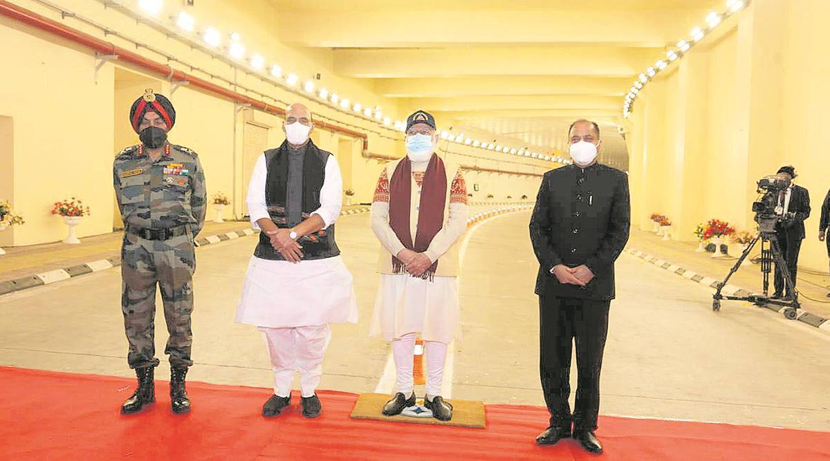 PM opens Atal tunnel, says delayed border projects on fast track