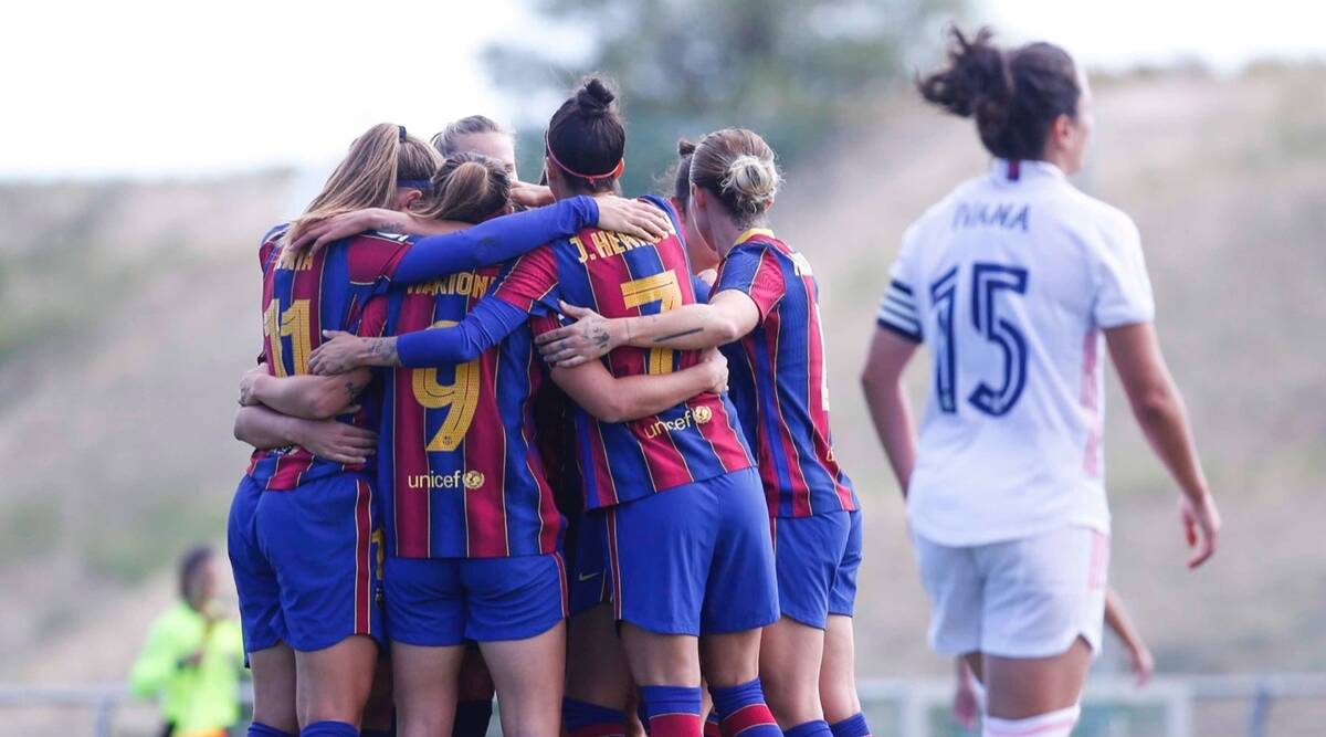 Barcelona Hammer Real Madrid In First Ever Women S Clasico Sports News The Indian Express