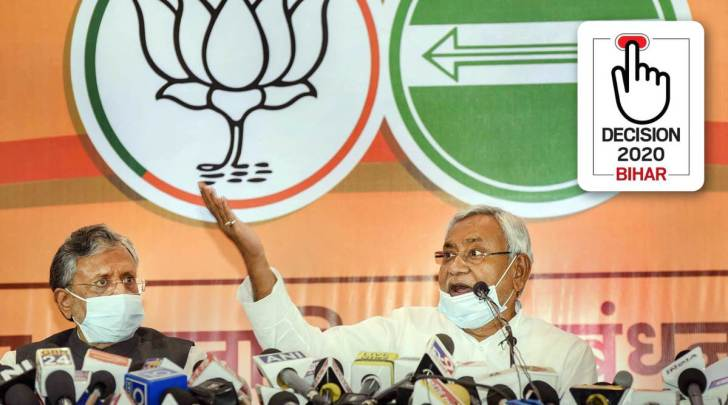 Bihar election, Bihar elections, Bihar assembly polls, NDA in bihar, NDA parties bihar, jdu bjp alliance, who all in nda alliance, bihar nda alliance, jdu alliance partners, bihar news, indian express