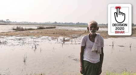 bihar assembly elections, bihar muzaffarpur floods, bihar voting, lockdown flood effect, Muzaffarpur flood issues, Narendra Modi in Muzaffarpur, indian express