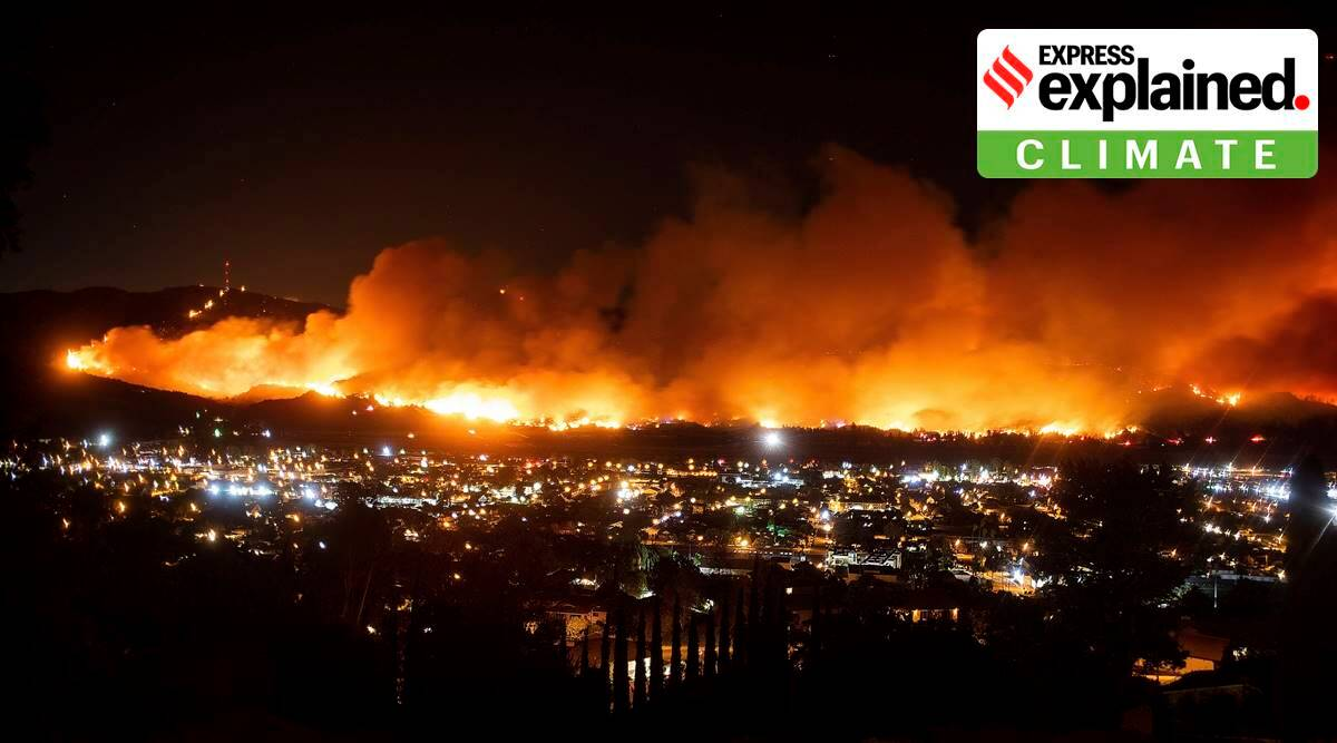 California Wildfires, California Wildfires explained, California Wildfires cause, California Wildfires evacuation, California Wildfires news, wildfires climate change, baby showers climate impact, reasons for California Wildfires, indian express