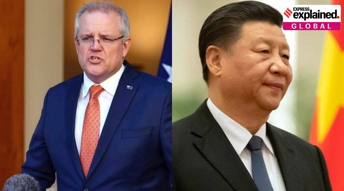 australia-china relations, uighur muslims, covid-19 pandemic, hong kong protests, Peter Dutton, express explained, indian express