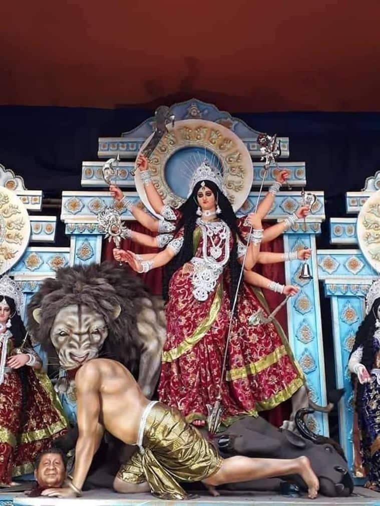 durga puja, durga puja 2020, durga puja india, durga puja idols, durga puja idols themes, Trending news, Indian Express news