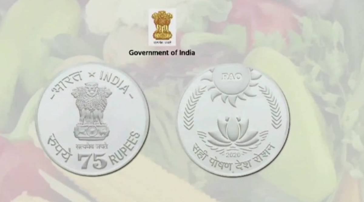 PM Modi releases Rs 75 coin to mark 75th year of FAO - The Indian Express