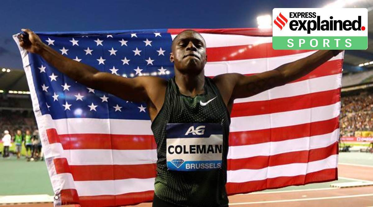 Christian Coleman, Christian Coleman ban, Christian Coleman appeal, Athletics Integrity Unit, Tokyo Games, Registered Testing Pool, express explained, indian express