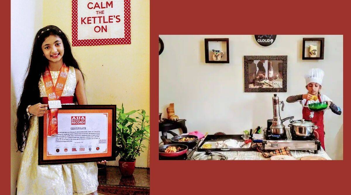 Kerala, cooking record, 10-year-old, Asia Book of Records, India Book of Records, Trending news, Indian Express news