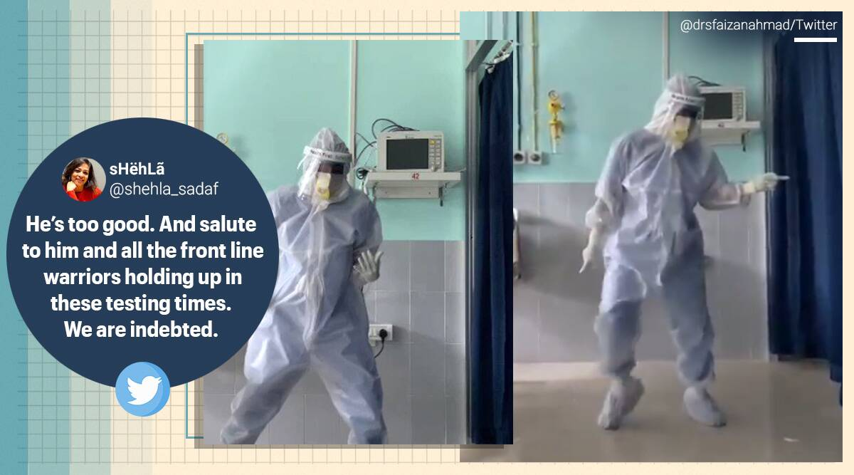 Doctor, PPE kit, Viral video, doctor dancing in PPE kit, dancing in protective gear, Assam doctor ppe kit Ghungroo dance, Ghungroo dance cover doctor, Assam news, Trending news, Indian Express news