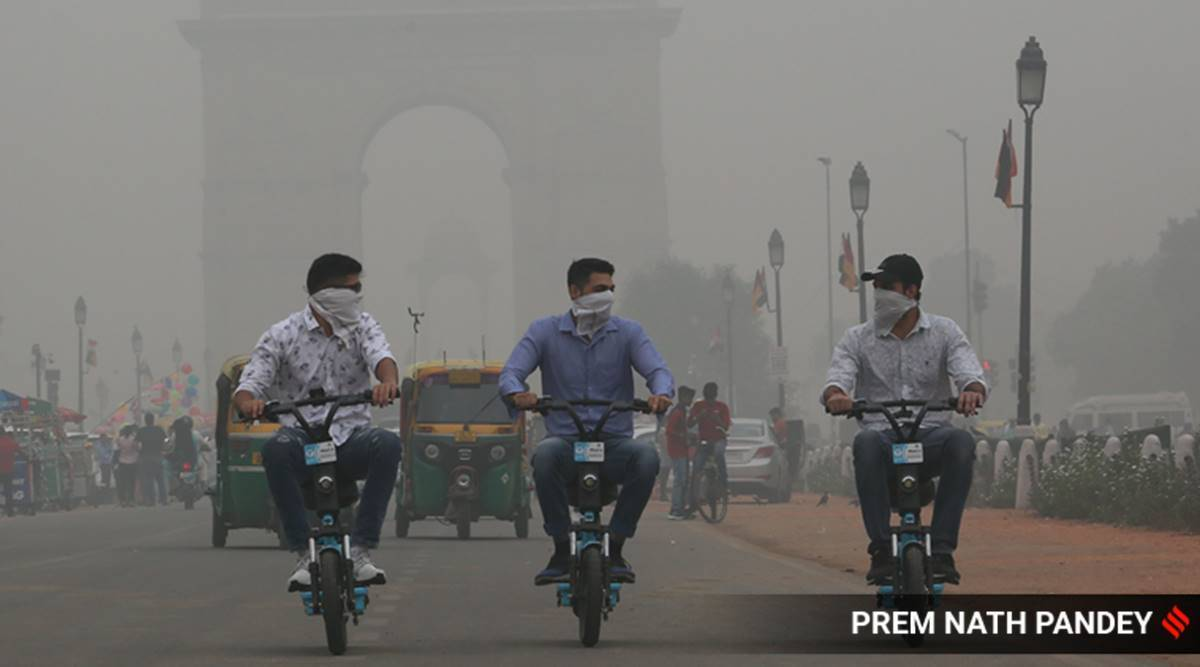 Delhi pollution, Delhi AQI today, delhi air quality today, Delhi-NCR pollution levels, Delhi government, Stubble burning, SAFAR, IMD, Delhi news, Indian express