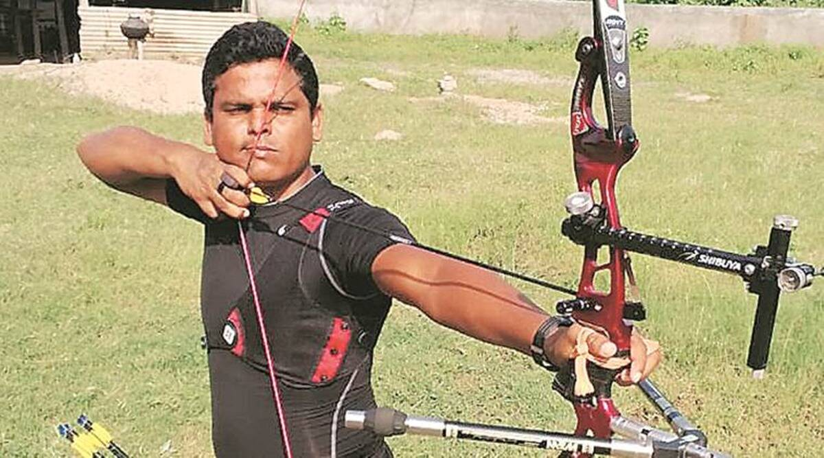 Dinesh Bhil, archery champion, Dinesh Bhil to train civil officers, civil officers arechery training, indian express news