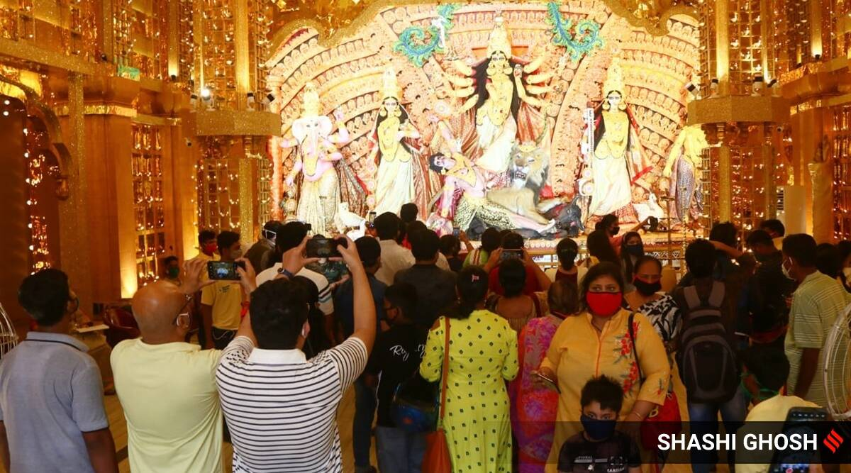 Durga Puja west bengal, Durga Puja calcutta high court, Durga Puja 2020 pandals, Durga Puja pandal no entry, Durga Puja kolkata, Durga Puja festival ban