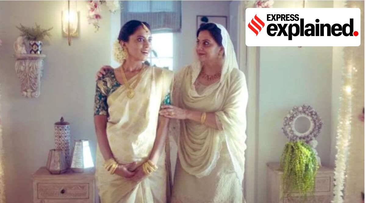 tanishq ad, interfaith marriages, express explained, mixed marriages, tanishq hindu muslim ad, tanishq jewellery, tanishq brand