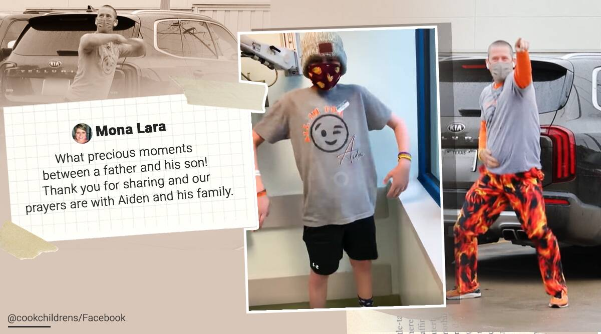 Father, Son, Dance, Cancer treatment, Chemotherapy, Texas, Trending news, Good news, Viral video, Indian Express news.