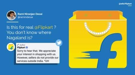 flipkart, flipkart nagaland, flipkart says nagaland outside india, flipkart naga row, viral news, indian express