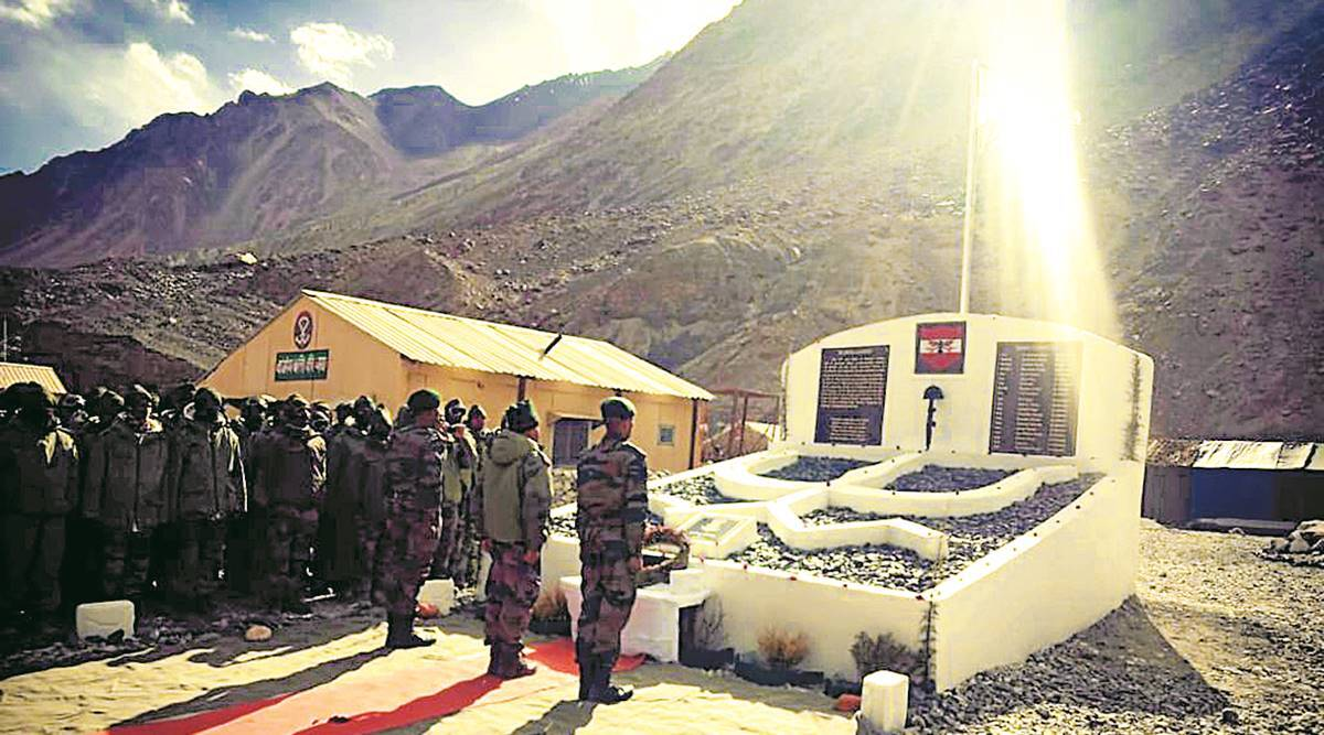 On Ladakh road, Army memorial for 20 soldiers killed in Galwan