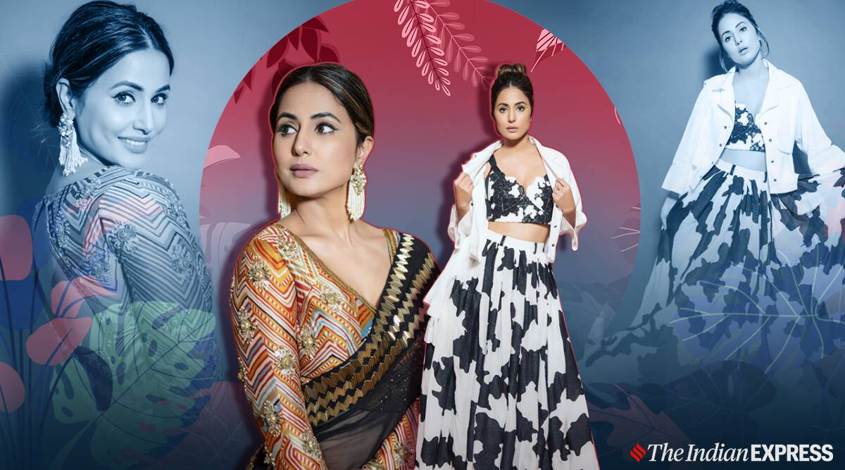Recently, Hina Khan was spotted in two different looks.